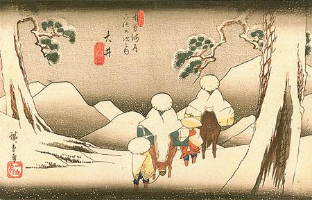 paysage d'Hiroshige