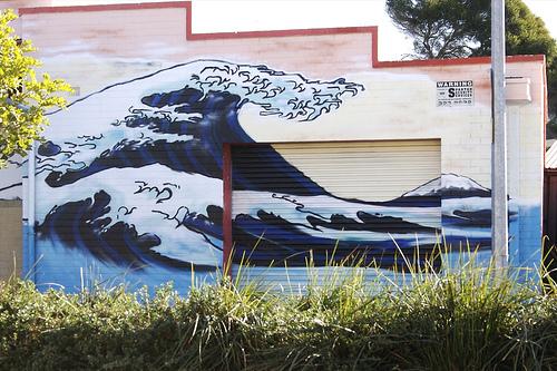 la vague d'Hokusai à Adelaïde