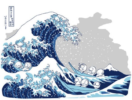 t-shirt la vague hokusai