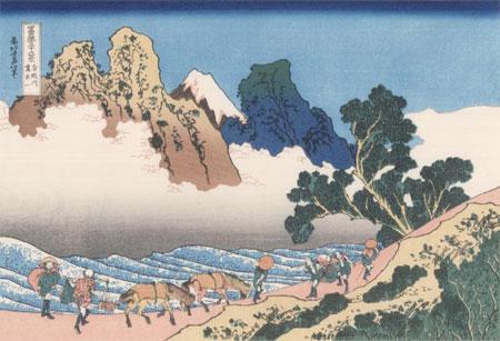 hokusai, vue du mont fuji