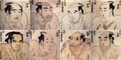 estampes japonaises de sumos