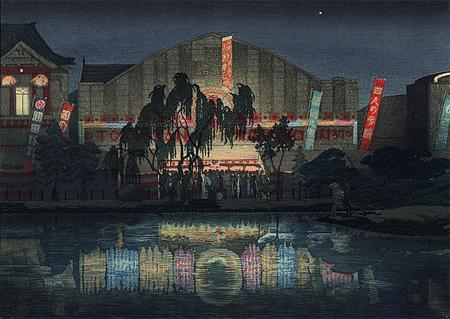 asakusa de nuit par Ishiwata Koitsu