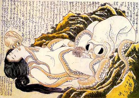 la femme du pêcheur d'Hokusai