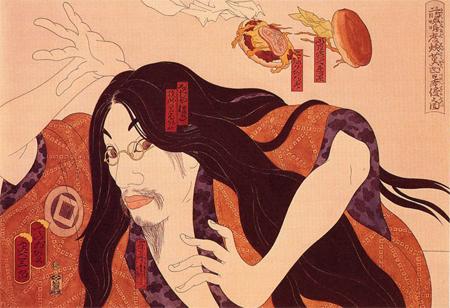 les hamburgers attaquent le japon de masami teraoka