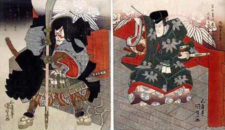 estampe de poses kabuki