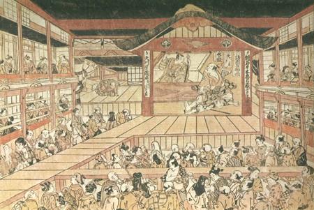 estampe de théâtre kabuki