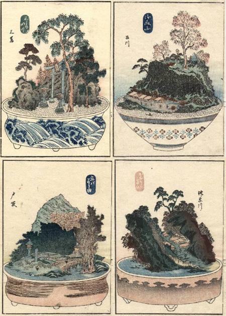 ukiyo-e de bonsai