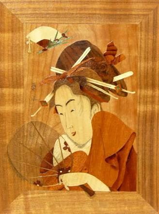 maquette en bois ukiyo-e