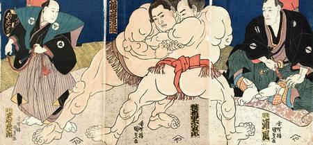 ukiyo-e de sumo de kunisada