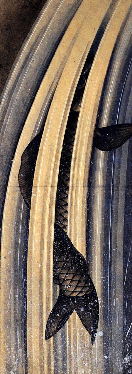 estampe de carpe par hokusai