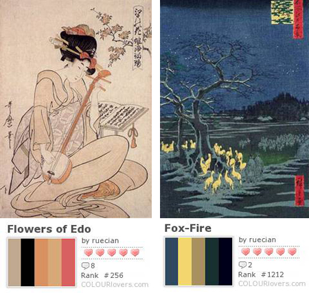 couleurs de l'estampe japonaise