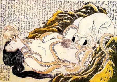 le rêve de la femme du pêcheur d'Hokusai