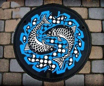 plaque d'égout japonaise