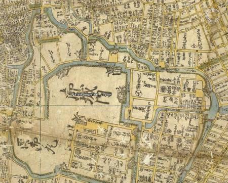 Le palais impérial sur la carte de 1680.