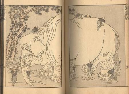 éléphant d'Hokusai