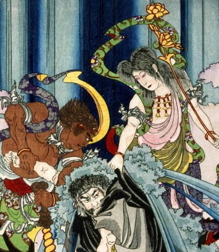 estampe légende japonaise