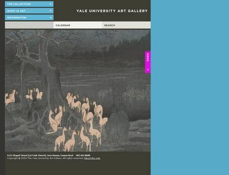 copie d'écran du site de l'université de Yale