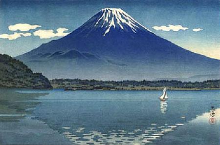 mont fuji depuis le lac shoji