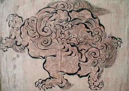 Monstre chinois d\'Utamaro