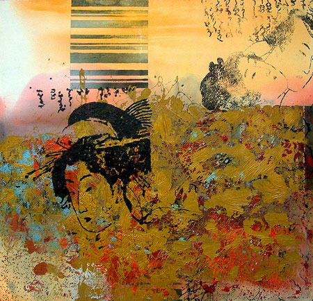 peinture inspirée par des estampes d\'Utamaro